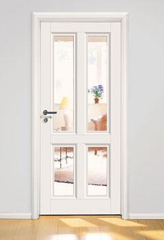 Zimmertüren Weiß Mit Glasausschnitt LandDesign | Schöne Türen