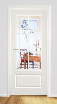 Tür weiß mit zarge  MDF-Klassiker | Schöne Türen
